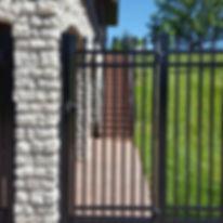 Ornamental Steel: elegant look of wrought-iron fencing. Low maintenance, Strength, Longevity