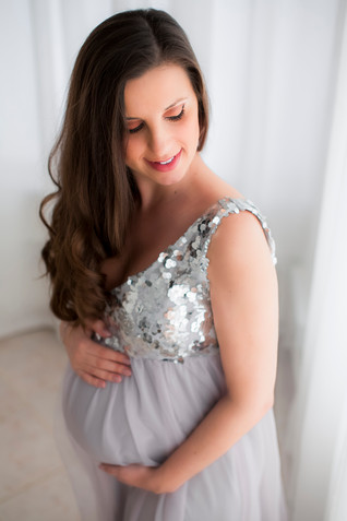 Vestido lilás lantejoulas