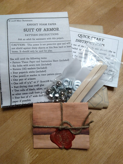 Secret Knight Letter with Costume Pattern