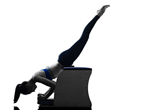 Woman on Pilates Chair