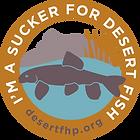 I'm A Sucker for Desert Fish Sticker