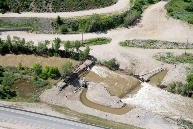 aerial view of Lower Weber River Diversion