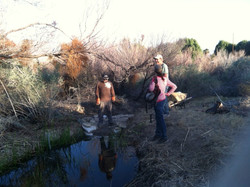 original pond cleared and enlarged