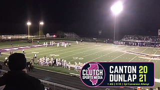 Dunlap's defense clutched up to stop Canton from converting on this two-point conversion with 18 seconds left in the fourth quarter, sealing a 21-20 win on October 18, 2019.