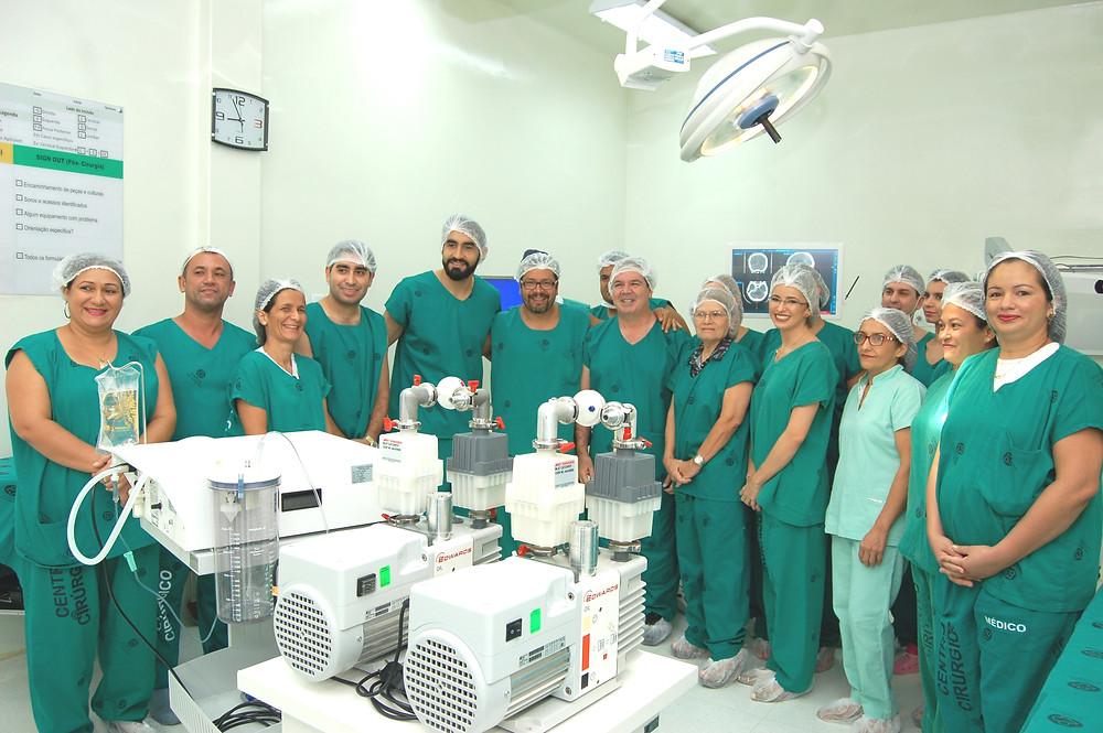 Equipe de neurocirurgia do INAO em Rio Branco, Acre