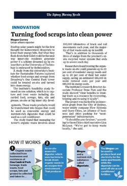 SMH Food scraps into clean power