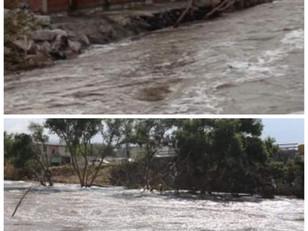 Vuelve a subir el nivel del Río Tula por las fuertes lluvias que se registraron por la noche