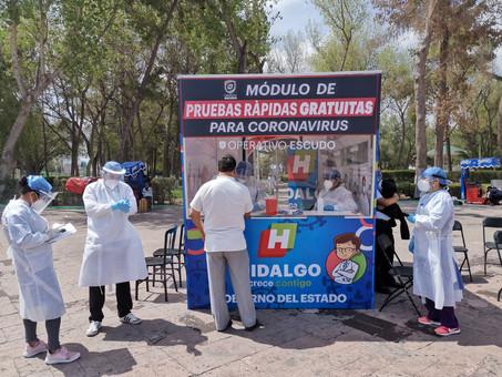 12,489 casos de Covid-19 y  1,928 defunciones en Hidalgo