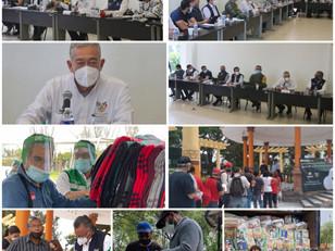 Autoridades de gobierno estátal se reúnen con presidentes municipales afectados por las inundaciones