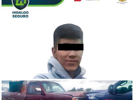 Con cargamento de hidrocarburo, asegura SSP Hidalgo a individuo en Chapantongo