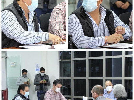 Reunión privada encabezada por la comisión permanente de salud del congreso local