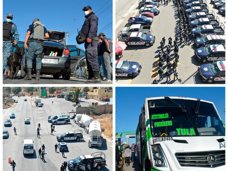 Operativo del Mando Coordinado de la SSP Hidalgo deriva en 18 puestas a disposición en región Tula