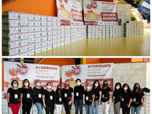 Entrega Voluntariado Universitario 600 despensas a Garzatón
