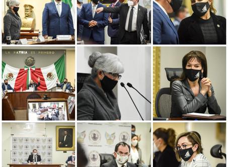 Reconoce LXIV Legislatura manejo de la pandemia en la entidad