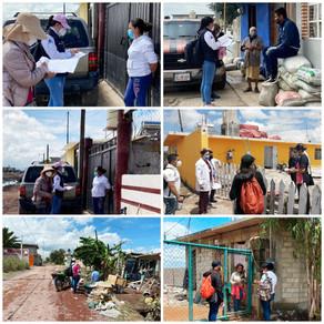 Brigadas de salud recorren sitios afectados en el municpio de Tula de Allende