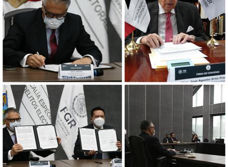 Fiscalía Electoral y PGJ de Hidalgo, firman convenio de  colaboración Ciudad de México
