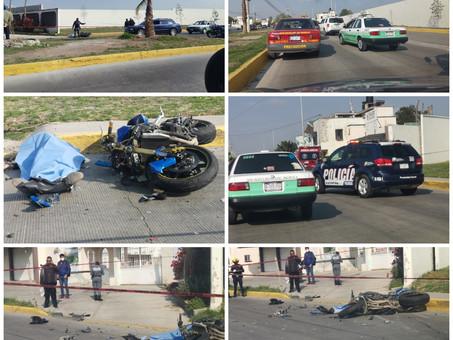 Accidente de una motocicleta deja como saldo una persona muerta y un Herido