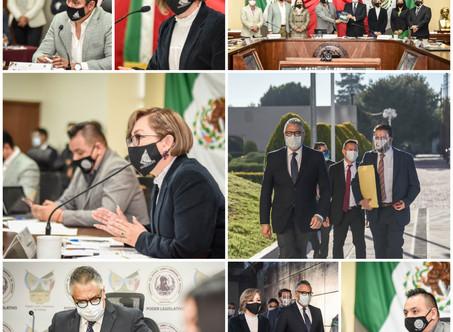 Comparece Raúl Arroyo ante integrantes de la LXIV Legislatura de Hidalgo