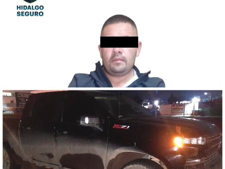 Asegura Policía Estatal a individuo en posesión de armas de fuego en Metepec