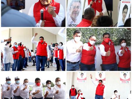 DIRIGENCIA DEL PRI HIDALGO FORTALECE CAMPAÑA DE SUS ASPIRANTES EN EL ALTIPLANO