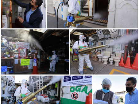 Continúa la sanitización gratuita de negocios en Pachuca