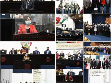 SE INSCRIBE EL NOMBRE DE ELISA ACUÑA ROSETTI EN EL MURO DE HONOR DEL CONGRESO DE HIDALGO