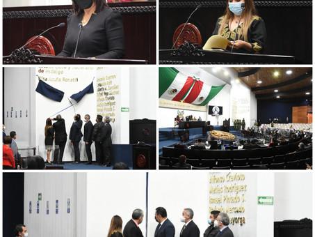 EL NOMBRE DE ELISA ACUÑA ROSETTI SE INSCRIBE EN EL MURO DE HONOR DEL CONGRESO ESTATAL