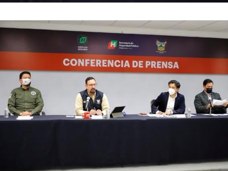 8 MIL DELITOS MENOS EN HIDALGO, DURANTE 2020
