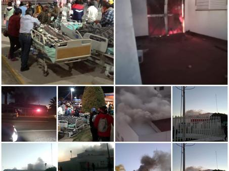 Incendio en Hospital Regional del Valle del Mezquital
