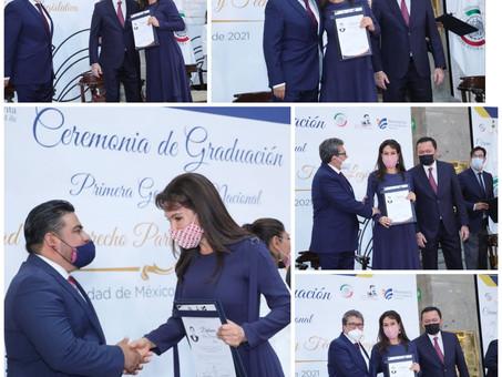 Entrega Senado de la República diplomas a las y los alumnos de la Especialidad