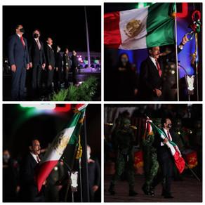 El gobernador del estado de Hidalgo Omar Fayad Meneses da el grito de la Independencia