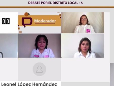 Realiza IEEH Debate por la Diputación Local del Distrito 15 Tepeji del Río