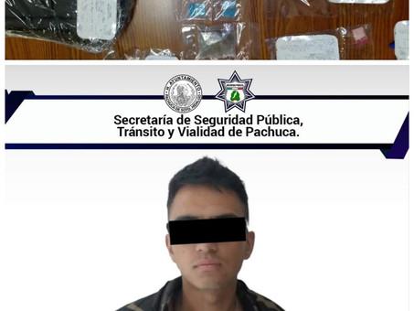 Operativo de prevención por parte de la policía Municipal de Pachuca