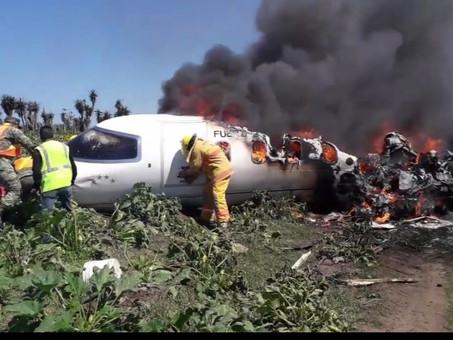 Aeronave perteneciente a la fuerza aérea mexicana sufre accidente en el estado de Veracruz