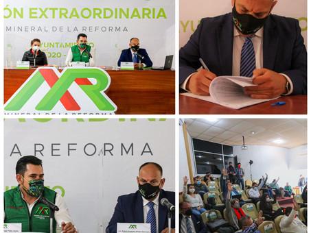 APROBADO POR UNANIMIDAD, USO OBLIGATORIO DE CUBREBOCA EN MINERAL DE LA REFORMA