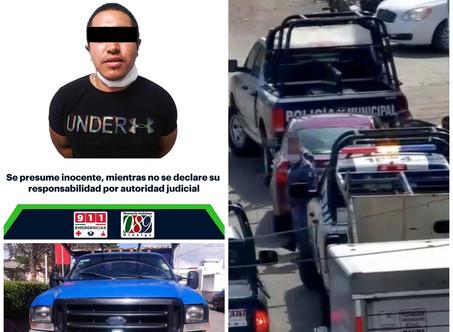 Bajo operativo del C5i y Policía Estatal, robo de vehículo es frustrado