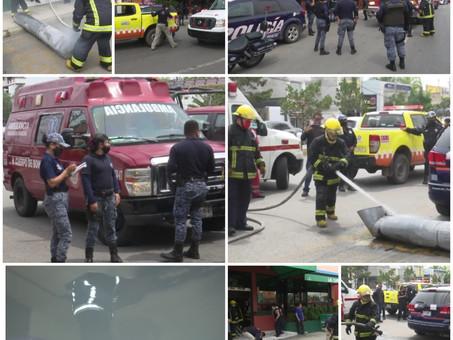 El día de hoy se registra incendio en un restaurante en Valle de San Javier