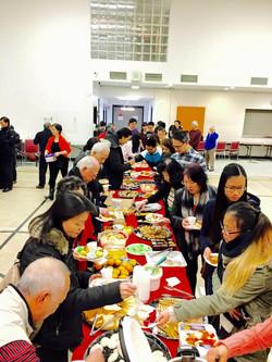 Christmas Tea Party after Mass