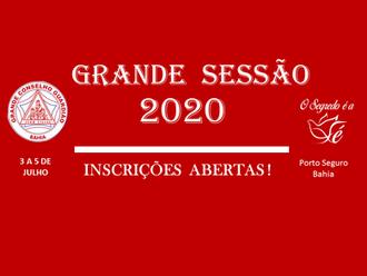GRANDE SESSÃO 2020: INSCRIÇÕES ABERTAS
