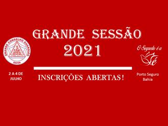 GRANDE SESSÃO 2021: INSCRIÇÕES ABERTAS