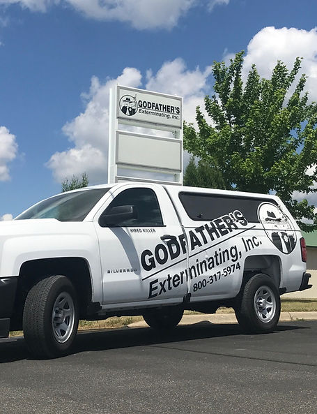 One of the bed bug exterminator's trucks in Brainerd, MN