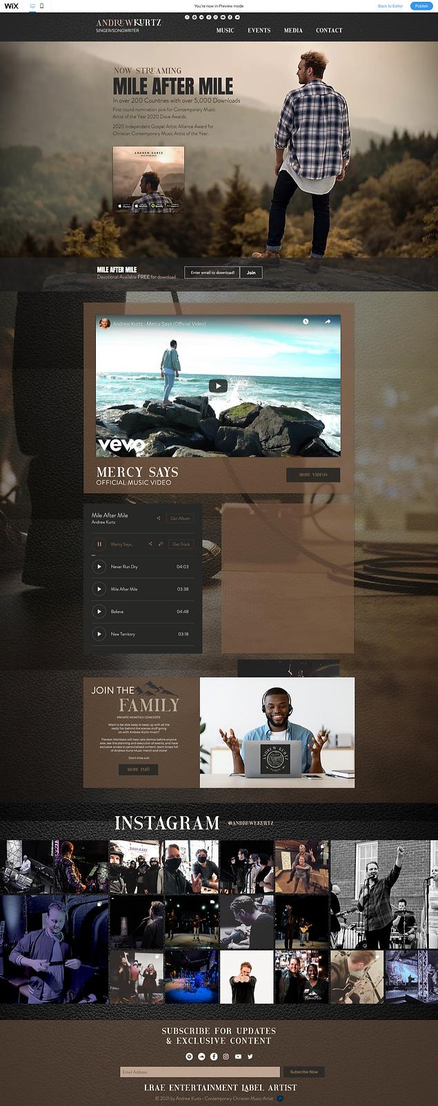 Andrew Kurtz Website Rebrand