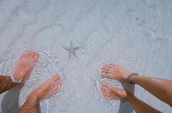 I piedi, radici in movimento.               Esercizi per l'estate