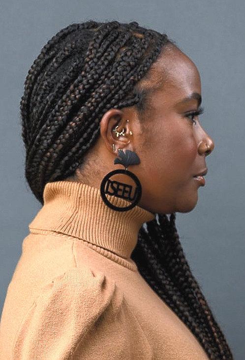 I SEE U Gingko Leaf Earrings