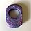 Thumbnail: PURPLE GLITTER OVAL  RING