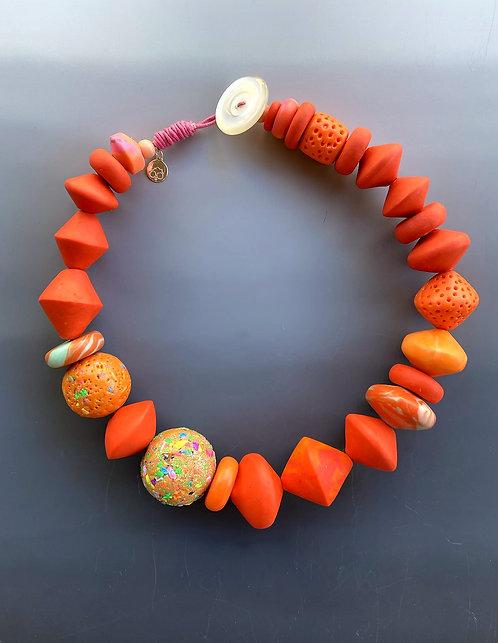 Orange Statement Necklace