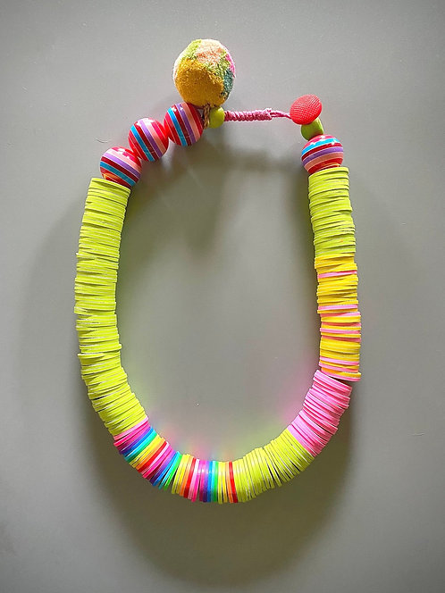 Rainbow Polymer Clay Necklace