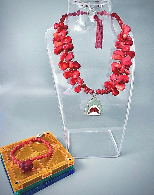 Baby Shark Bracelet & Necklace Set