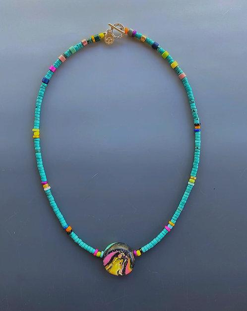 Galactic Turquoise Mini Necklace