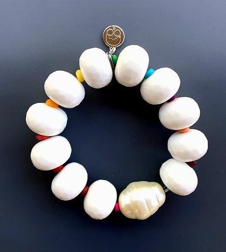 Mother Pearl White Gemstone Bracelet
